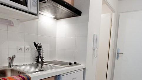 Résidence étudiante Tours appartement cuisine